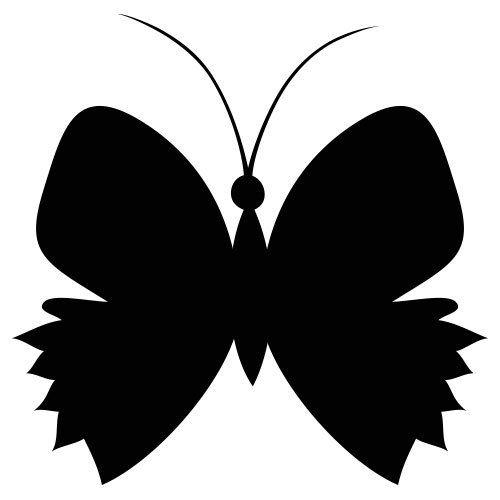 pochoir papillon 8 gratuit à imprimer