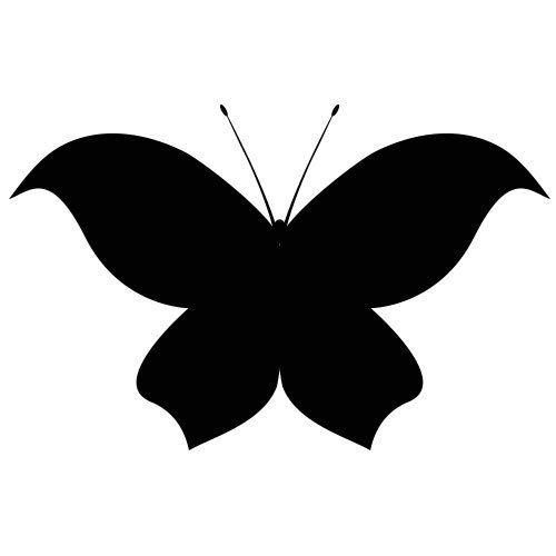 pochoir papillon 9 gratuit à imprimer