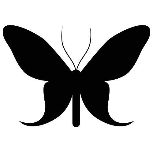 pochoir papillon 13 gratuit à imprimer