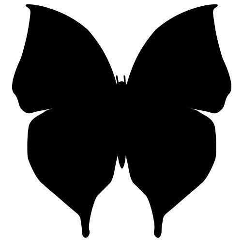 pochoir papillon 17 gratuit à imprimer