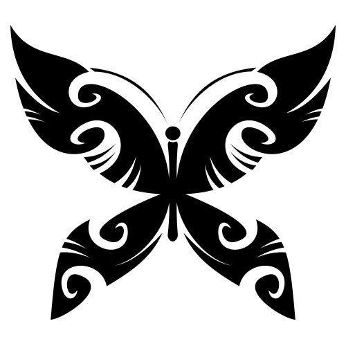 pochoir papillon 18 gratuit à imprimer