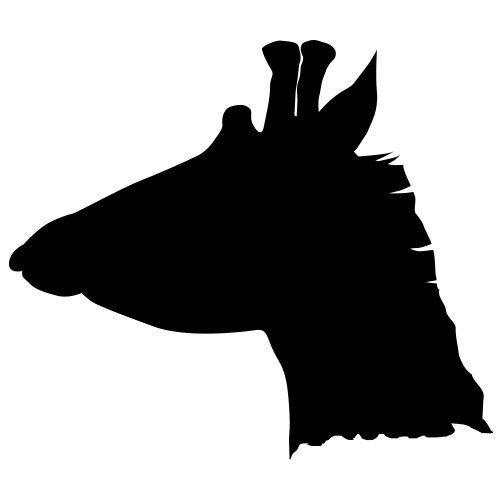 pochoir tête de girafe gratuit à imprimer