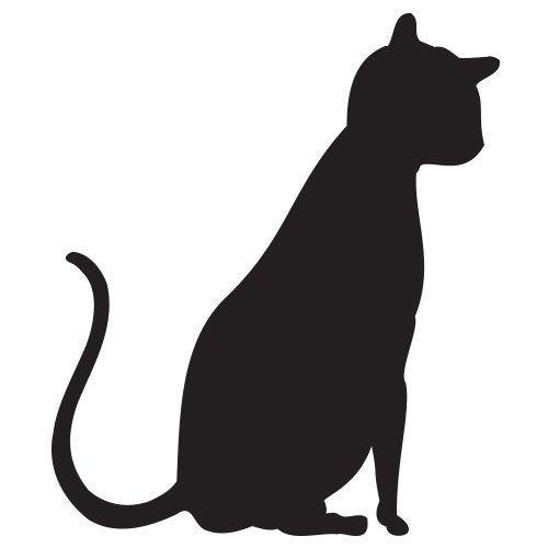 pochoir chat gratuit à imprimer