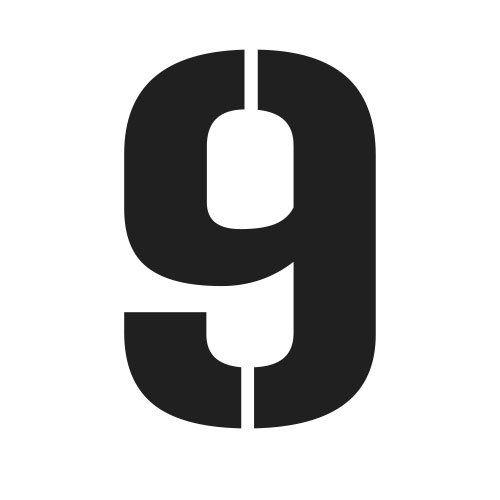 pochoir chiffre 9 gratuit à imprimer