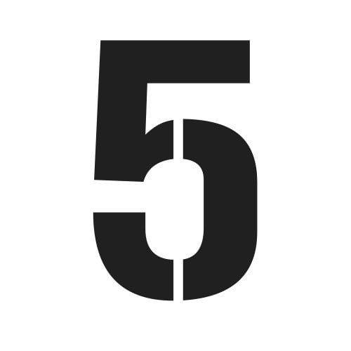 pochoir chiffre 5 gratuit à imprimer