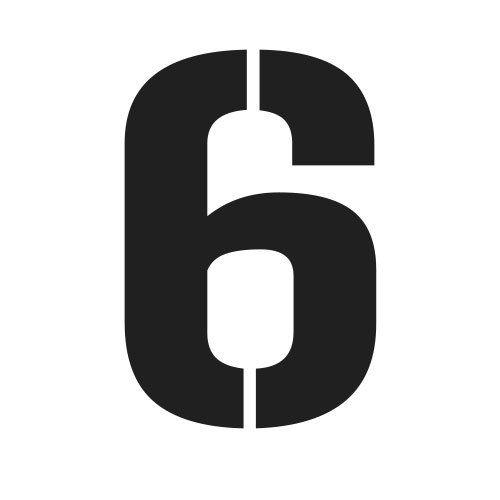 pochoir chiffre 6 gratuit à imprimer