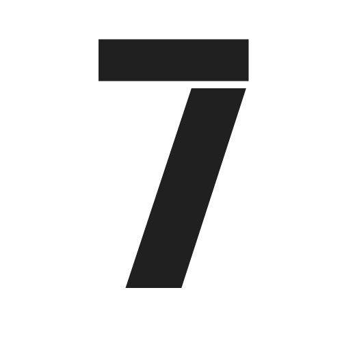 pochoir chiffre 7 gratuit à imprimer