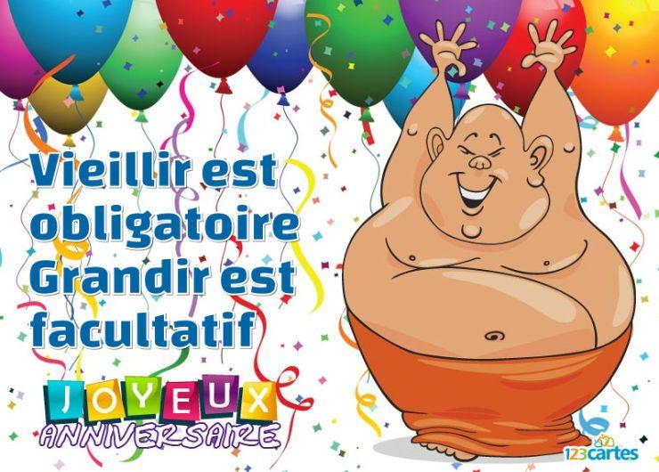 un gros très content qui danse, autour des confettis et des ballons gonflables