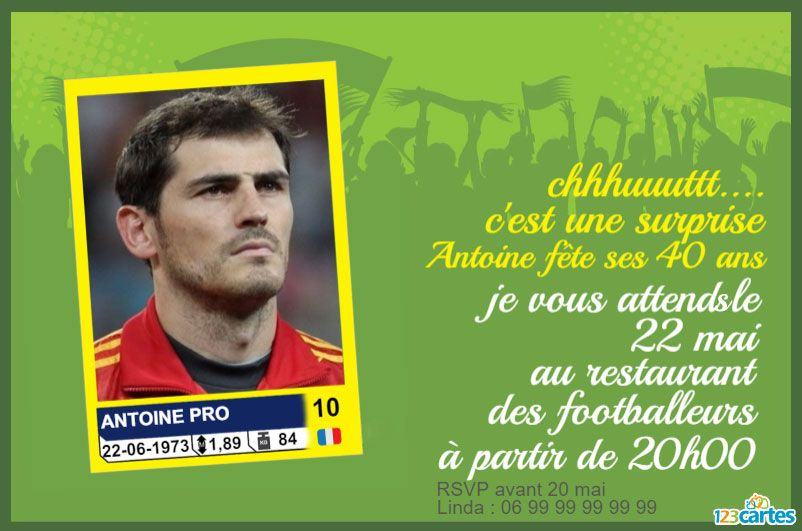 carte collection foot