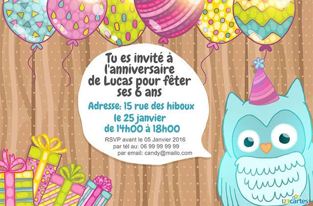 invitation anniversaire 6 ans. Black Bedroom Furniture Sets. Home Design Ideas