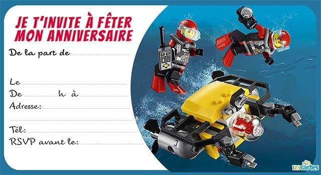 Hervorragend lego - Cartes et invitations gratuites - 123 cartes XL62