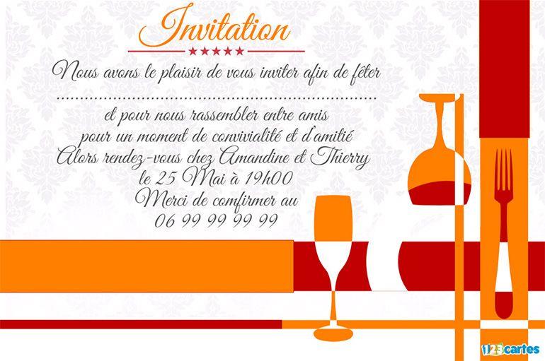 invitation apéro dînatoire la table est dressée