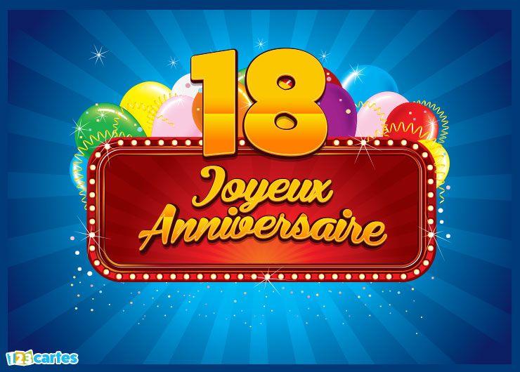 carte joyeux anniversaire 18 ans billboard cinema