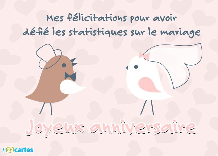 carte anniversaire humour les statistiques sur le mariage