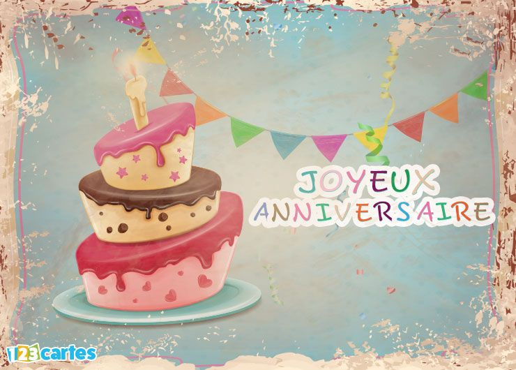 carte joyeux anniversaire vintage make-up