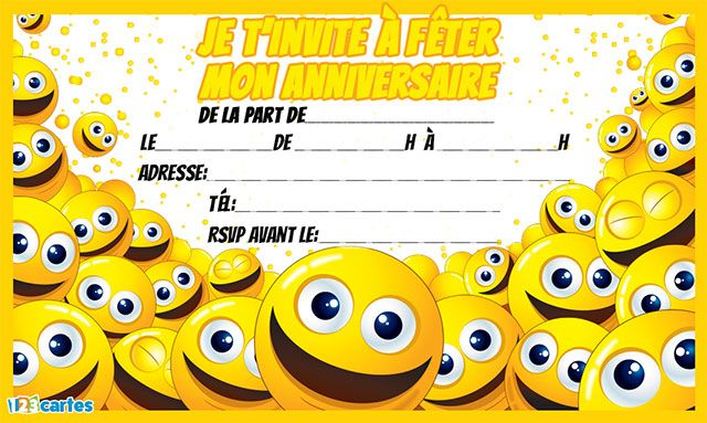 invitation-anniversaire-smileys