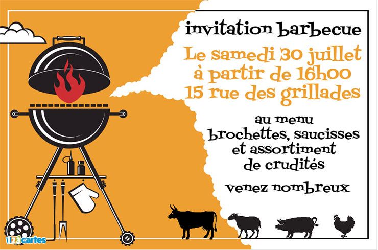 invitation barbecue gratuite