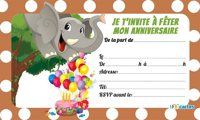 invitation elephant mignon