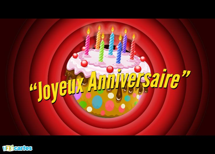 carte joyeux anniversaire that's all folks