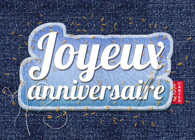 carte joyeux anniversaire paire de jeans