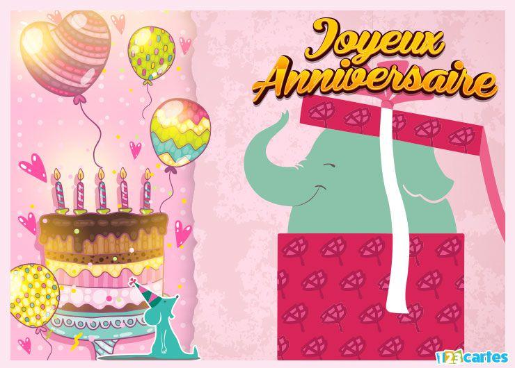 carte joyeux anniversaire surprise