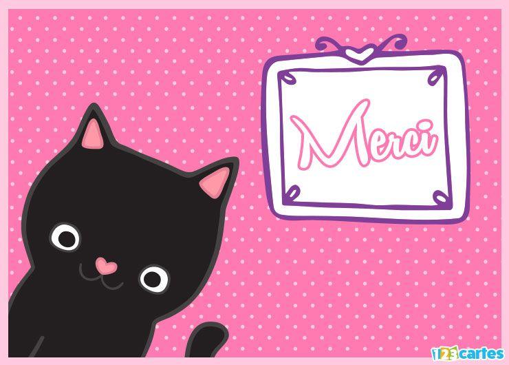 chat mignon avec nez rose