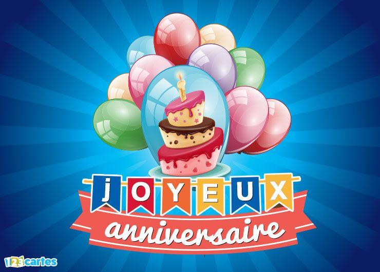 ballons gonflables de couleurs différentes, gâteau d'anniversaire