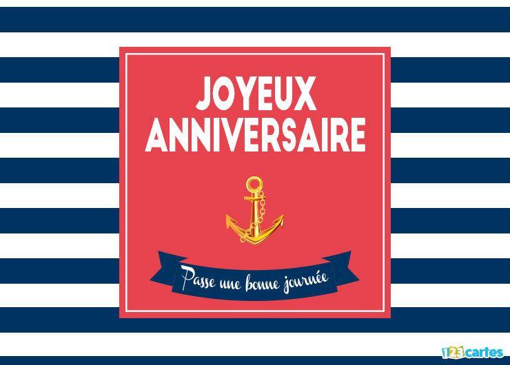 carte anniversaire marin