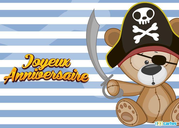 ours en peluche avec chapeau de pirate et cache-œil
