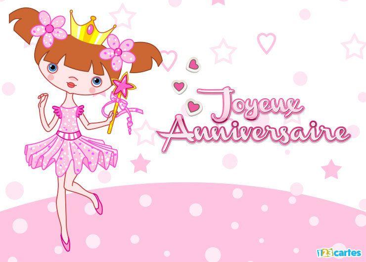 Joyeux anniversaire princesse 123cartes - Carte joyeux anniversaire gratuite ...