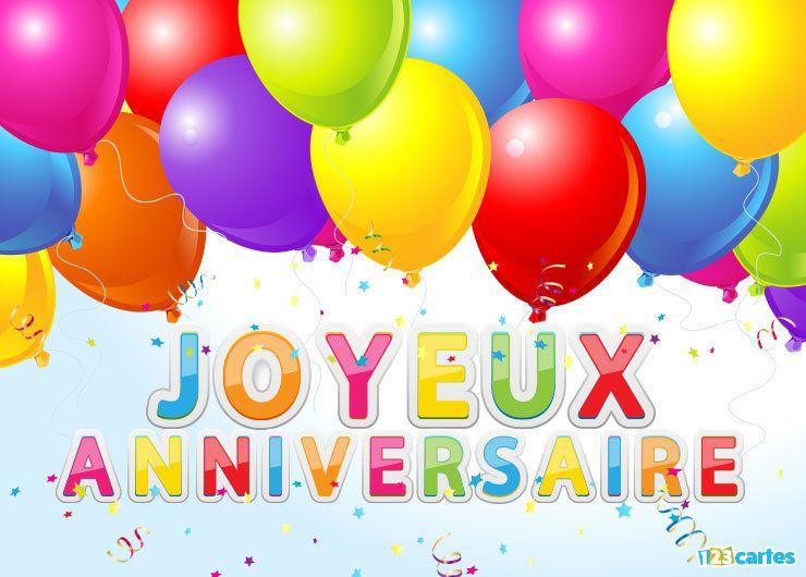Carte joyeux anniversaire les couleurs du bonheur 123cartes - Carte joyeux anniversaire gratuite ...