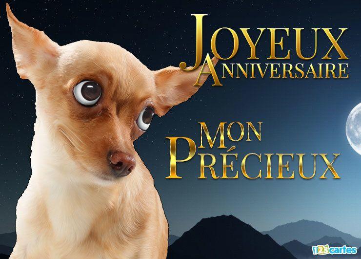 chien au regard drôle et étrange parodie Gollum