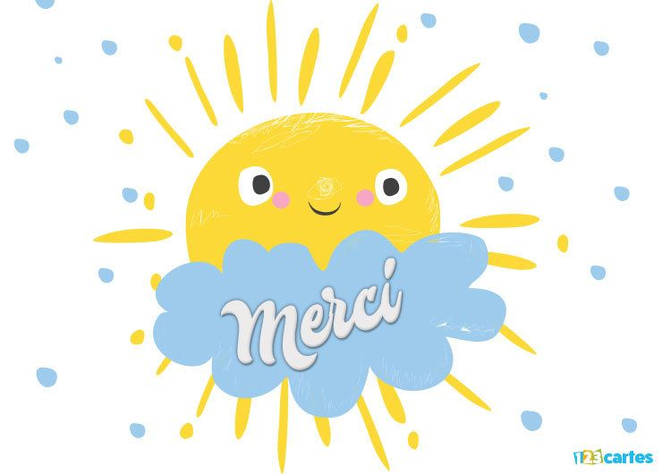 soleil sourire et nuage bleu