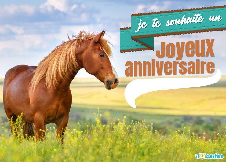 anniversaire et cheval