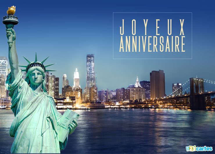 carte anniversaire new york 123 cartes. Black Bedroom Furniture Sets. Home Design Ideas