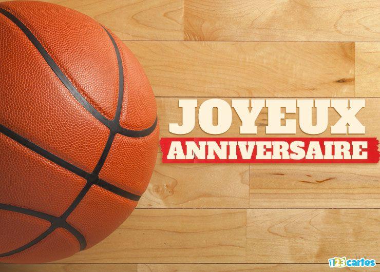 carte joyeux anniversaire basket