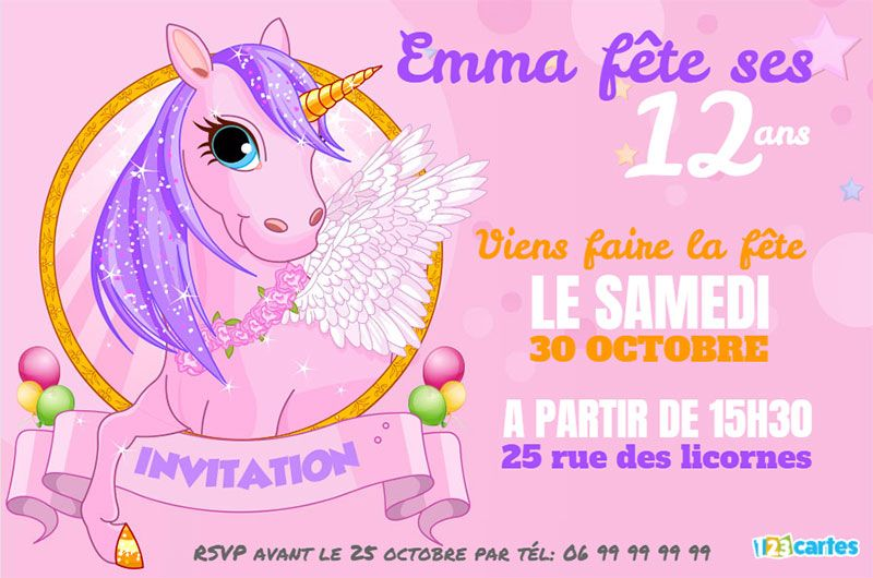 Gut bekannt Invitation anniversaire Ados - 123 cartes WE42