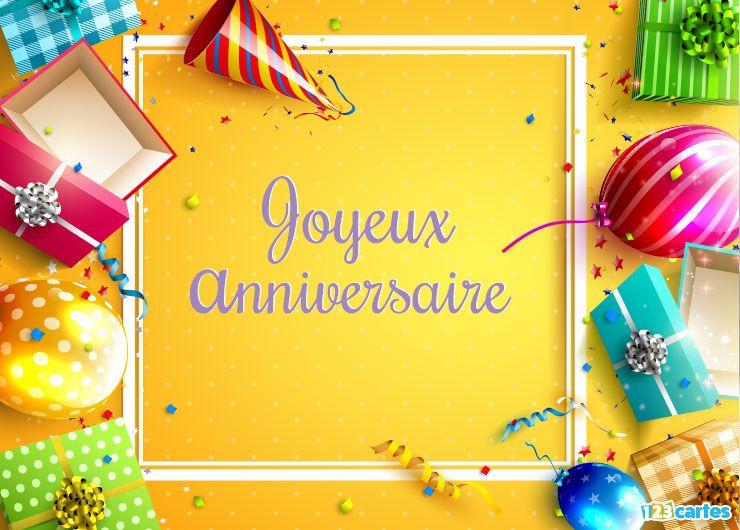 Magnifiques Cadeaux Carte Joyeux Anniversaire Virtuelle Gratuit 123cartes