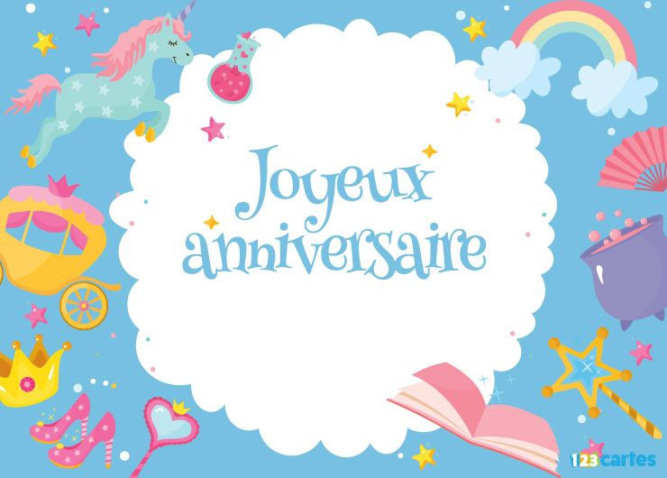 Top Carte joyeux anniversaire confettis - 123 cartes IF61