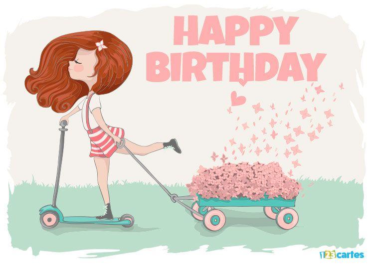 Cartes joyeux anniversaire en anglais gratuit 123 cartes - Carte anniversaire a imprimer gratuit fille ...