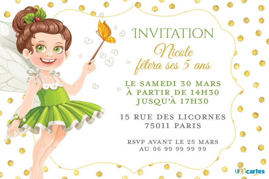 invitation anniversaire fille image collections invitation sample and invitation design. Black Bedroom Furniture Sets. Home Design Ideas