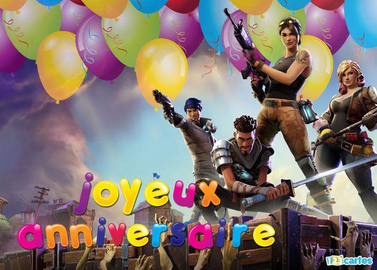 Carte joyeux anniversaire fortnite