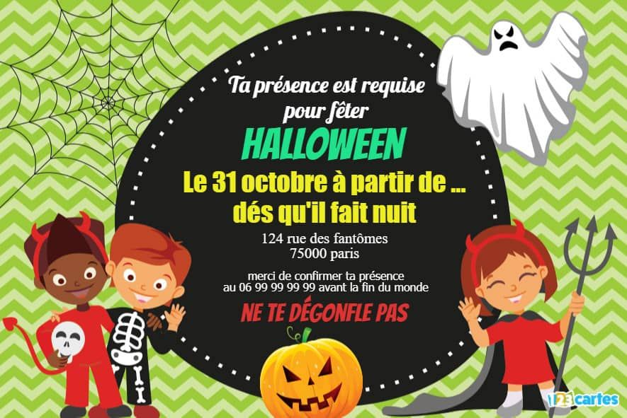 invitation déguisements Halloween