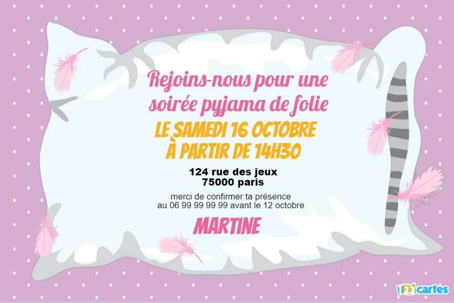 Invitations Anniversaire Fille Gratuits 123cartes