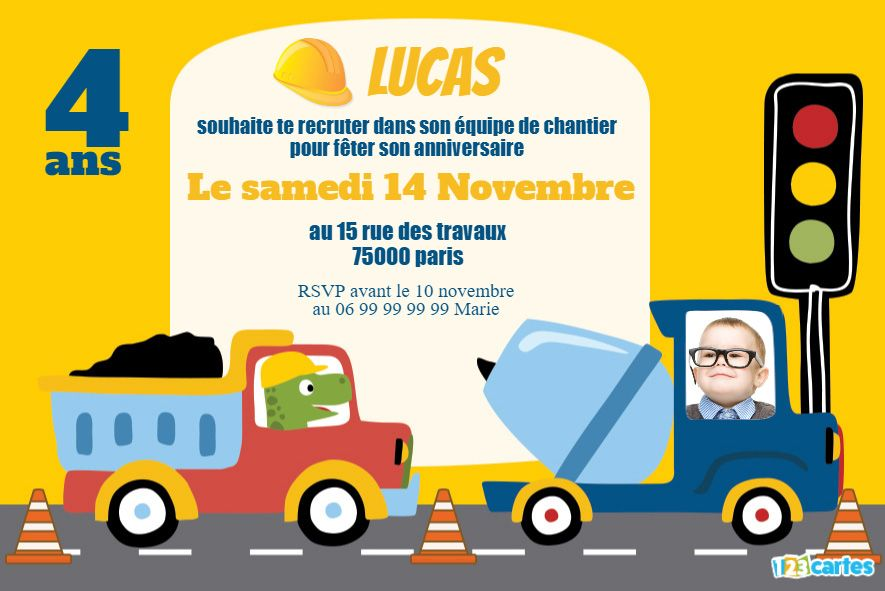 invitation mais qui conduit le camion toupie