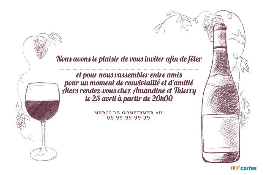 Dégustation de vin - Invitation Apéro