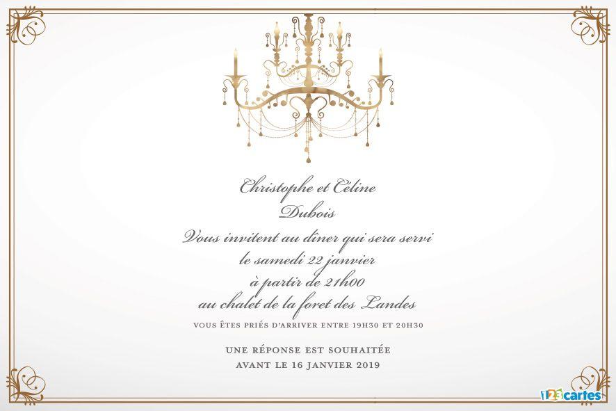 Lustre Vintage – Invitation à dîner