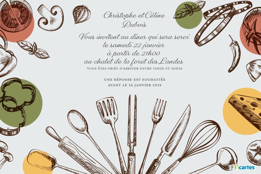 silhouettes d'ustensiles de cuisine et de légumes