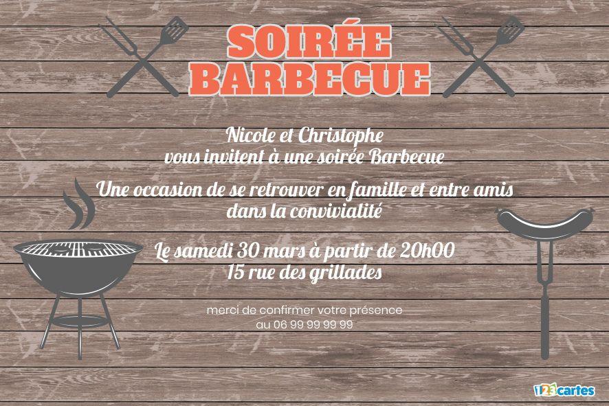 table en bois et silhouettes de barbecue et d'ustensiles pour barbecue