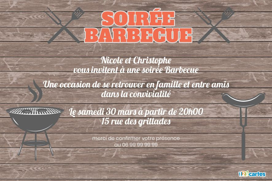 Invitation soirée Barbecue